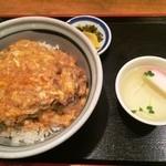 櫻庵 - かつとじ丼(950円)