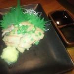 和食個室×とろろしゃぶしゃぶ にっぽん市 - 天草大王地鶏 白レバー(湯引き) (800円)