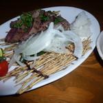 和食個室×とろろしゃぶしゃぶ にっぽん市 - 和牛いちば ミニステーキ(780円)