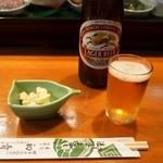 初音寿司 - 料理写真:ビール & 付き出し