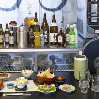 鮮度のいい魚とともに豊富な種類のお酒をお楽しみください♪