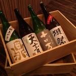 粋。 - こだわりの日本酒は常時25種類以上。お好みの日本酒を探してみて!