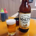 づめかん - 【再訪】おぉ。瓶ビールは「モルツ(大瓶)」450円也。