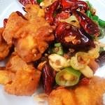 味美 - ◆鶏揚げ辛子炒め
