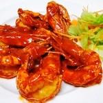 味美 - ◆大エビのチリ辣炒め