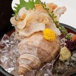 日本海庄や -  活つぶ貝 750円(税別)