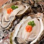 日本海庄や -  生牡蠣(5個) 1280円(税別)
