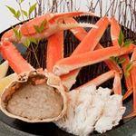 日本海庄や -  蒸しズワイガニと甲羅焼き 1280円(税別)