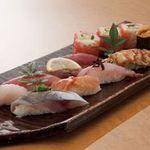 日本海庄や -  特上寿司盛合せ 1880円(税別)
