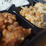 山の手屋 - ピーナツ衣の鶏唐揚げ、野菜タマゴとじ