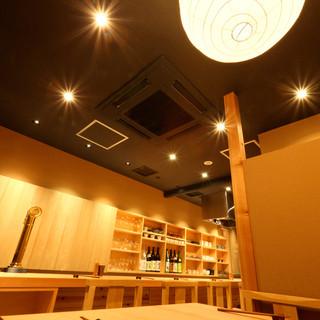 広々とした店内で、ごゆっくりとお食事をお楽しみ頂けます