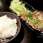 美彩や - いも豚のステーキ(マスタードクリームソース)!