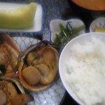 伊良湖亭 - 大アサリ定食B ¥900