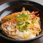 逢阪にこにこ庵 - 誰もが愛するエビフライを、なんと丼に!