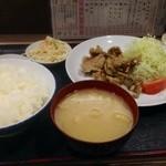 22794557 - 日替わりサービス、豚肉の竜田揚げ定食