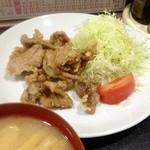 明喜屋 - 豚肉の竜田揚げ定食