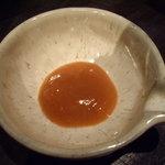 葱や平吉 - optio A30で撮影。薬味の梅肉。