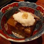 なか田 - ☆茄子の煮こごり…茗荷と長芋の組み合わせ(^v^)☆