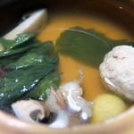 いち川 - 蒸物:松茸の土瓶蒸し