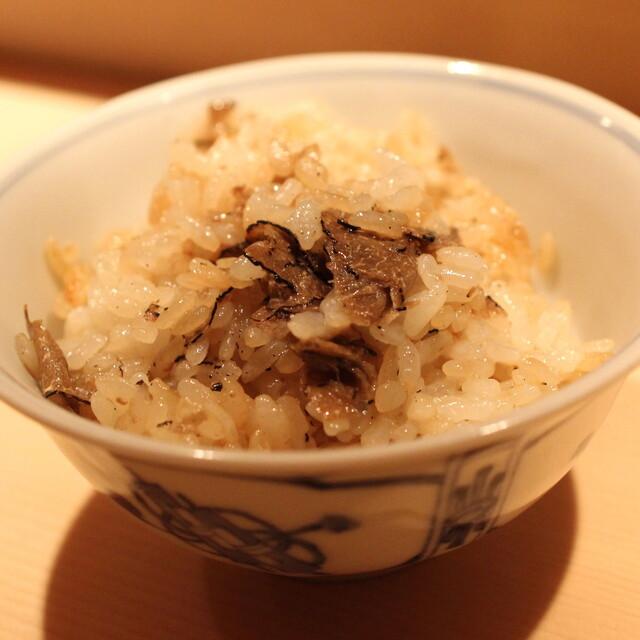麻布 かどわき - トリュフご飯 (2013/11)