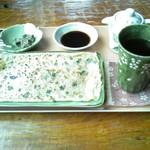 ログ喫茶・ペンションいずみが森 - ひらやちーセットを頂きました。