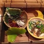 馳走葉 - 料理写真:くじらのユッケと白和え