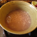 門前茶屋おもろ庵 - ほうじ茶の茶がゆ