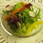 グリル アンドウ - 雪、花コース 彩り野菜のサラダ