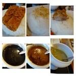 ラグーン - ご飯にはそれぞれ「トッピング」が添えられ、されにボリュームアップ。  カレーはどれも美味しいですけれど「グリーンカレー」、好みでございます。