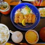 かつ雅 - かきフライ定食(2013年)