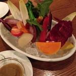 ラキュイエール - 有機野菜のバーニャカウダ(1,200円)2013年11月
