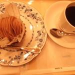 ドトールコーヒーショップ - モンブラン&ホット珈琲。