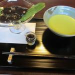 茶寮 宝泉 - わらび餅お抹茶