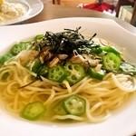 Cafe Palette - 紀州梅とオクラの和風スープパスタ
