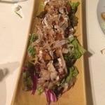 名古屋個室居酒屋 柚柚~yuyu~ - 海鮮たっぷり!ミニお好み焼き 特製ゆずマヨソース