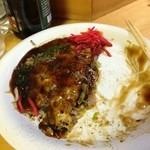 添灯虫 - 広島焼 豚玉 半分食べた!