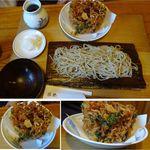 22831257 - おろしかきあげざるそば                       。そば勝縁(長野県下伊那郡阿智村)食彩賓館撮影