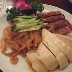 三和楼 - 三種の前菜盛り合わせ:鳥が柔らかくてとにかく美味しい