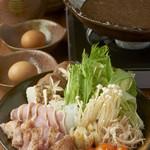 鶏鬨 - 地養鶏すき焼き