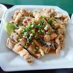 台湾食堂 - 揚げ鶏ネギソースかけ