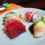 浜昇 - 刺身4種盛り800円