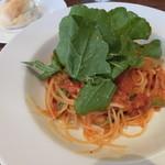 22846422 - ベーコンと本日の野菜のフェデリーニ アマトリチャーナ