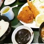 レストラン伊吹 - エビヒレ定食1350円