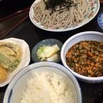 ごまそば喜久栄 - 野菜汁セット 880円