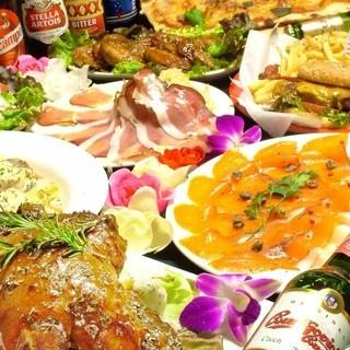 充実の選べるパーティーコース☆大満足の飲み放題プラン