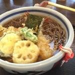 そば うどん 今日亭 - 天ぷら蕎麦  まあまあかな!