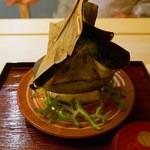 祇園 末友 - 丹波牛の朴葉焼き(2013年11月撮影)