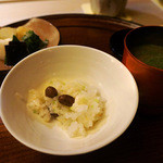 祇園 末友 - むかごの炊き込みご飯(2013年11月撮影)