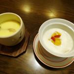 日若屋 - 茶碗蒸しと杏仁豆腐