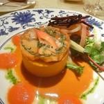 ル・ジャルダン・デ・サヴール - ブルターニュ産オマール海老のお菓子仕立て、トマトソース 三種大根の細切り添え